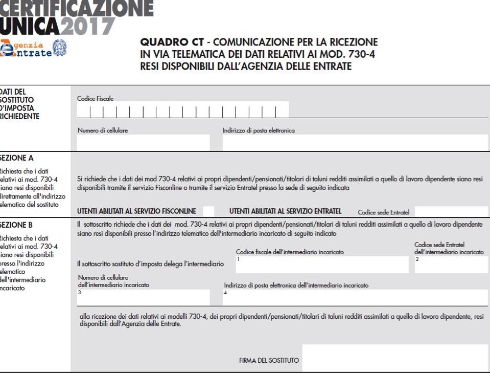 Certificazione Unica 2017: Cu ordinaria