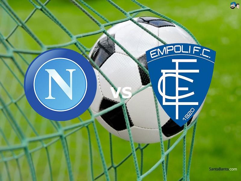 Napoli Empoli streaming live gratis per