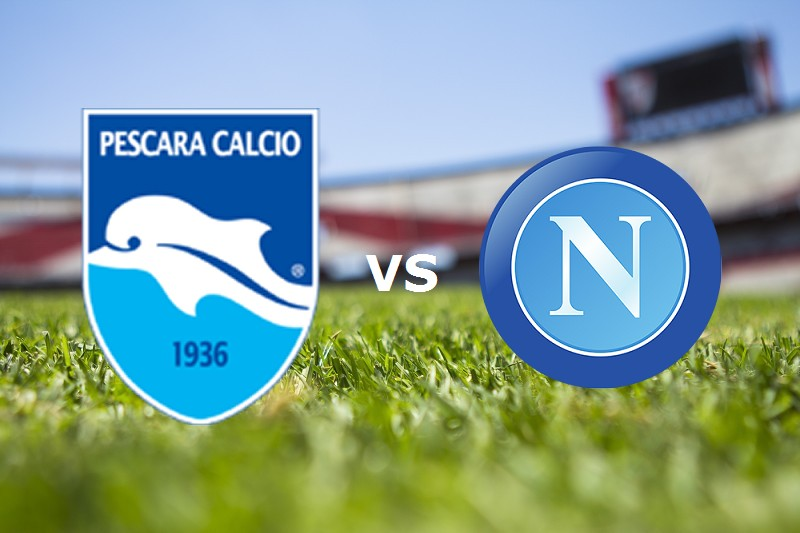 Pescara Napoli streaming live gratis per