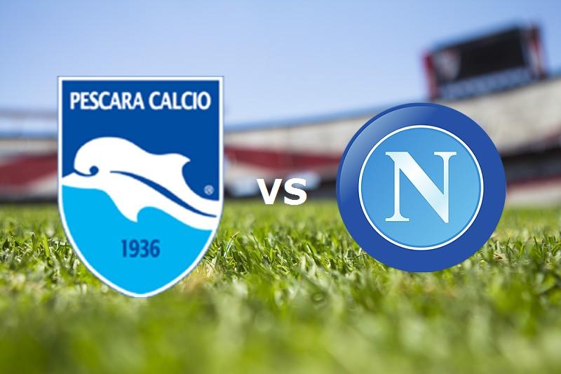Pescara Napoli streaming gratis live lin