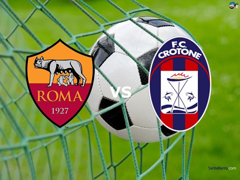 Crotone Roma streaming gratis live. Dove